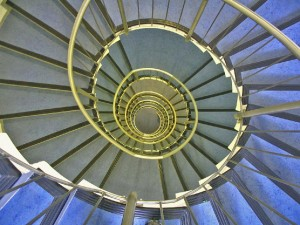 look downstairs into stairwell whirl 300x225 Creating with Intention, Acting with Commitment