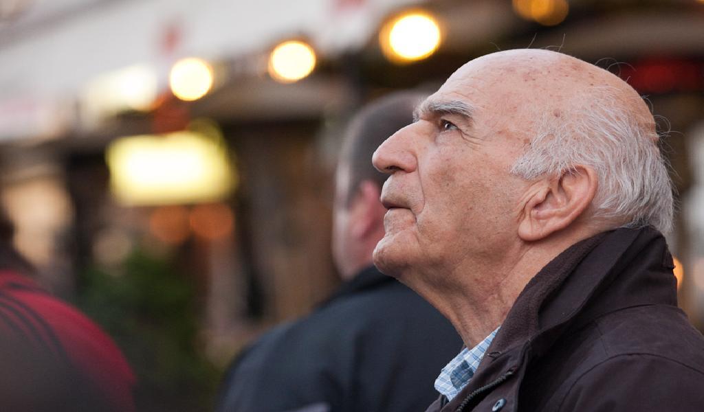 Old man looking